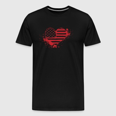 USA Heart! USA! Patriot! America! - Men's Premium T-Shirt