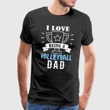 volleyball papa - Mannen Premium T-shirt