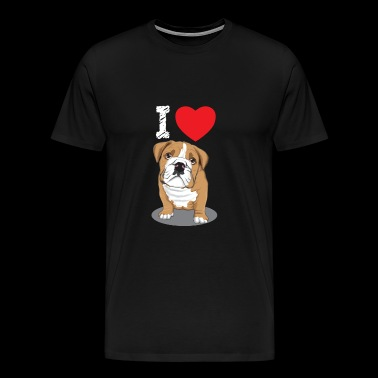 Bulldog Dog Pet Dog Love Love Gift - Premium-T-shirt herr