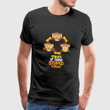 Monkey Chimpanzee Monkey Funny Dumb Fun Gift - Men's Premium T-Shirt