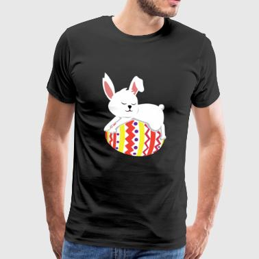 Bunny easter eggs easter rabbit cute gift - Men's Premium T-Shirt