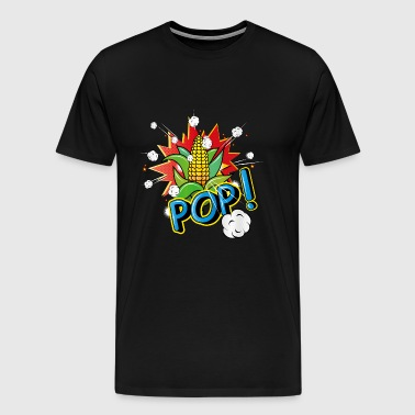 Corncob in pop art style - Men's Premium T-Shirt