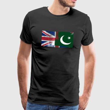 British Pakistani Half Pakistan Half UK Flag - Premium-T-shirt herr