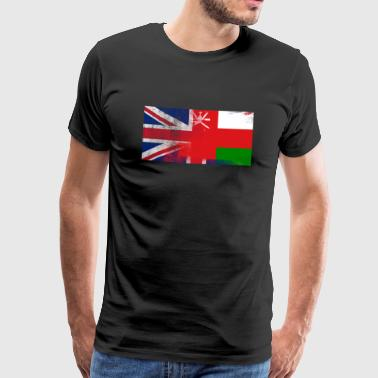 British Omani Half Oman Half UK Flag - Men's Premium T-Shirt
