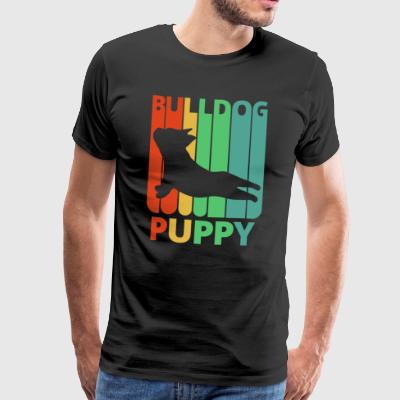 Vintage Retro Bulldog Puppy. Gifts for dog Lovers. - Men's Premium T-Shirt