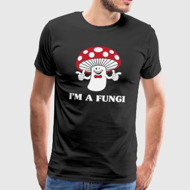 I'm a fungi fun guy funny word joke mushroom gift - Men's Premium T-Shirt