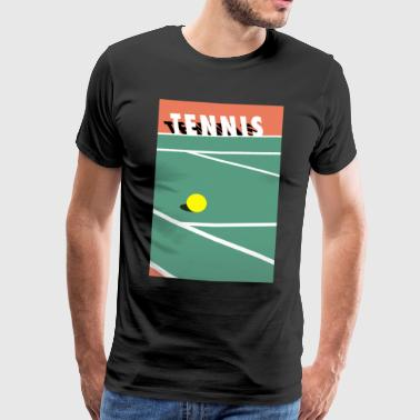 Minimalistisk Tennisbane Sports - Premium T-skjorte for menn