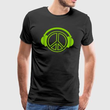 peace - headphones - music - Männer Premium T-Shirt