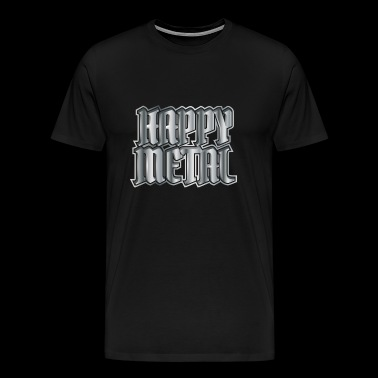 Happy Metal - Herre premium T-shirt