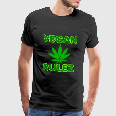 Cannabis Vegan Rulez - Premium-T-shirt herr