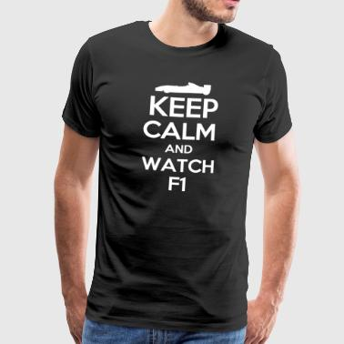 Keep Calm og se F1 - Herre premium T-shirt