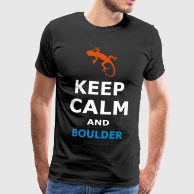 KEEP CALM AND BOULDER - BOULDER - Men's Premium T-Shirt