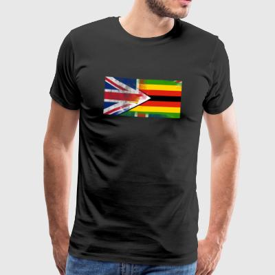 British Zimbabwean Half Zimbabwe Half UK Flag - Men's Premium T-Shirt