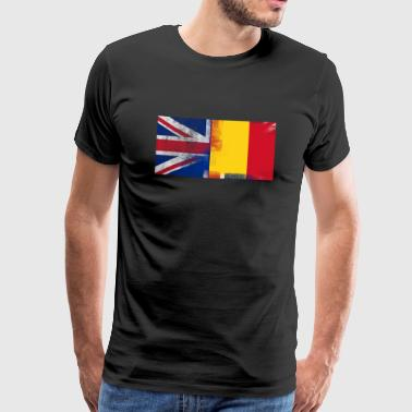 British Romanian Half Romania Half UK Flag - Men's Premium T-Shirt