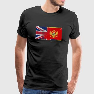 British Montenegro Half Montenegro Half UK Flag - Men's Premium T-Shirt