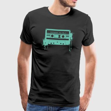 RETRO CASSETTE in turquoise - Men's Premium T-Shirt