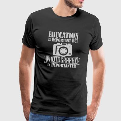 Photography is importanter - Men's Premium T-Shirt