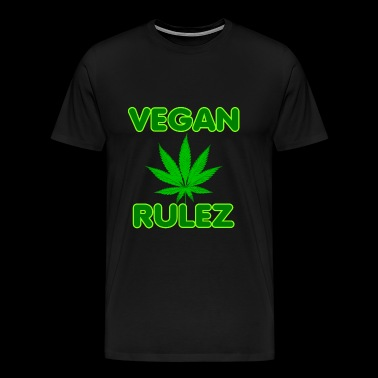 Cannabis Vegan Rulez - Men's Premium T-Shirt