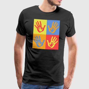 POP ART HANDEN - Mannen Premium T-shirt