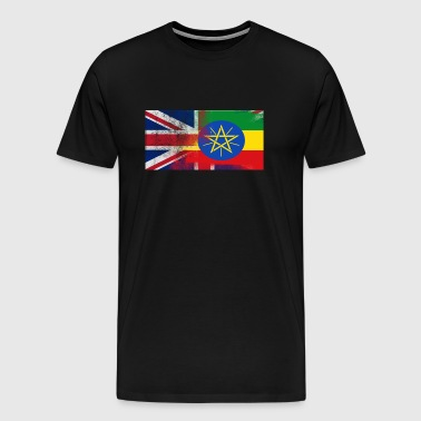 British Ethiopian Half Ethiopia Half UK Flag - Men's Premium T-Shirt