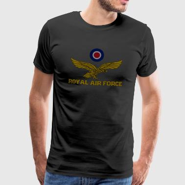 Royal Air Force Roundel og eagle dunket T-skjorte - Premium T-skjorte for menn