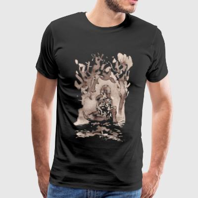 forest woman - Men's Premium T-Shirt