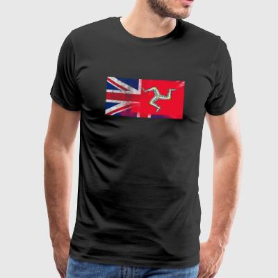 British Manxman Half Isle of Man Half UK Flag - Premium-T-shirt herr