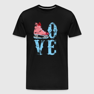 Love Ice Skating - Ice Rink Ice Skating Hockey - Men's Premium T-Shirt