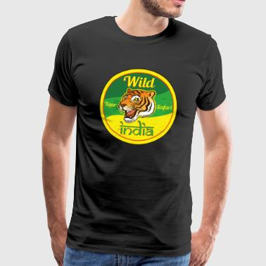 Wild India Tiger Safari / Cool Tiger Design - Premium T-skjorte for menn