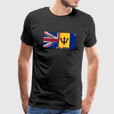 British Barbados Half UK Flag - Men's Premium T-Shirt