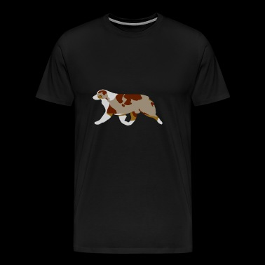Australian Shepherd (Red Merle) Trotting - Men's Premium T-Shirt