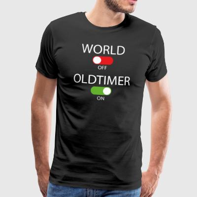 World off - Oldtimer on - Männer Premium T-Shirt