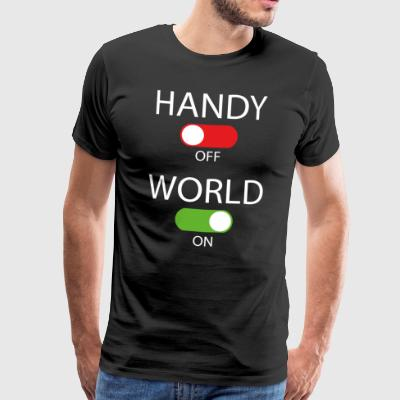 Handy off - World on - Männer Premium T-Shirt