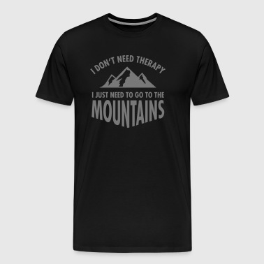 Therapy - Mountains - Herre premium T-shirt