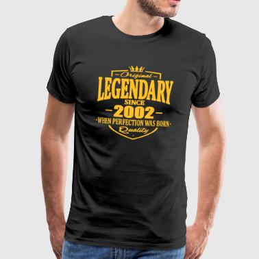 Legendary siden 2002 - Premium T-skjorte for menn