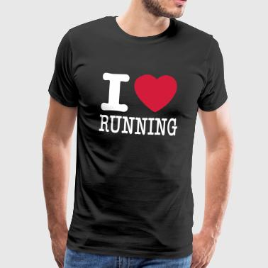 I love running / I like running - Men's Premium T-Shirt