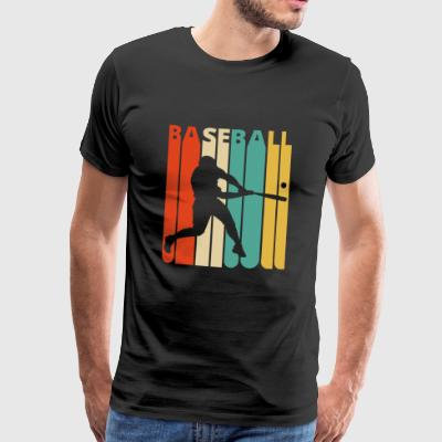 Awesome 70s Vintage Retro Baseball Player Gifts - Premium-T-shirt herr
