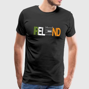 Ireland with guitar chords - Men's Premium T-Shirt