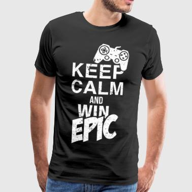 Epic win number 1 winner winner success - Men's Premium T-Shirt