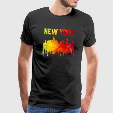 New York / gave / gaveide - Premium T-skjorte for menn