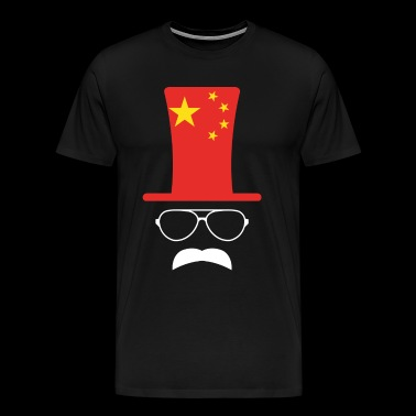 China Chinese vlag voetbal Hipster - Mannen Premium T-shirt