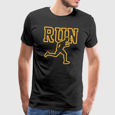 Run - Running - Running Shirt - Marathon - Triathlon - Herre premium T-shirt