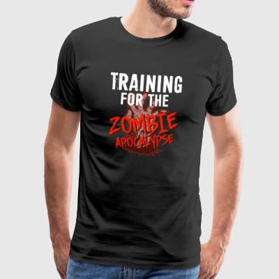 Training for the ZOMBIE APOCALYPSE T-Shirt - Men's Premium T-Shirt