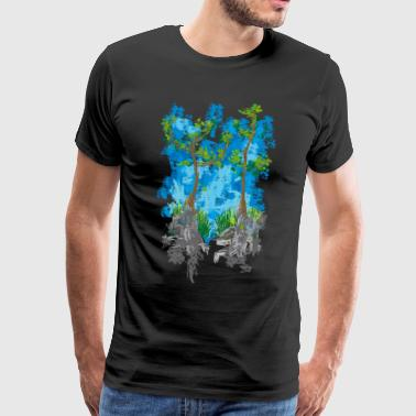 Trees in the rocks - Men's Premium T-Shirt
