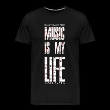 Music is my life, is a way of life - Men's Premium T-Shirt