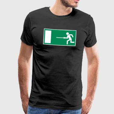 Escape route fencer green edition - Men's Premium T-Shirt