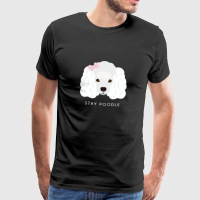 Poodle White - Men's Premium T-Shirt