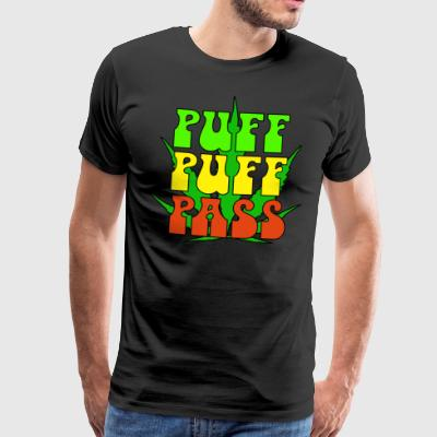 Puff puff pass - Premium T-skjorte for menn
