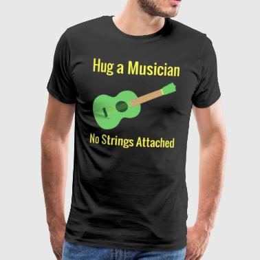 Hug a Musician No Strings Attached - Premium T-skjorte for menn