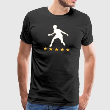 Bordtennis t-shirt gave Kindermann kvinde 5Star - Herre premium T-shirt